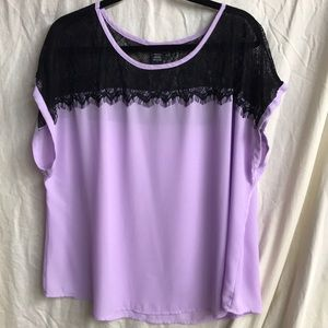 Purple torrid top with black lace